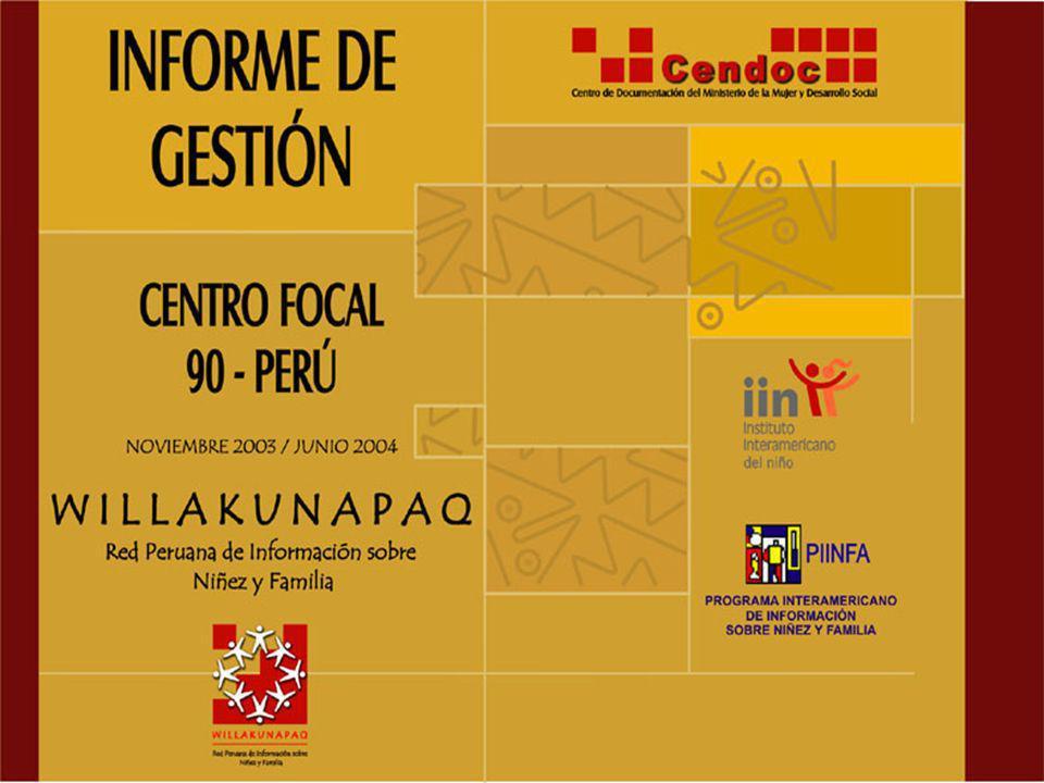 AFICHE de la Red Peruana de Información sobre Niñez y Familia
