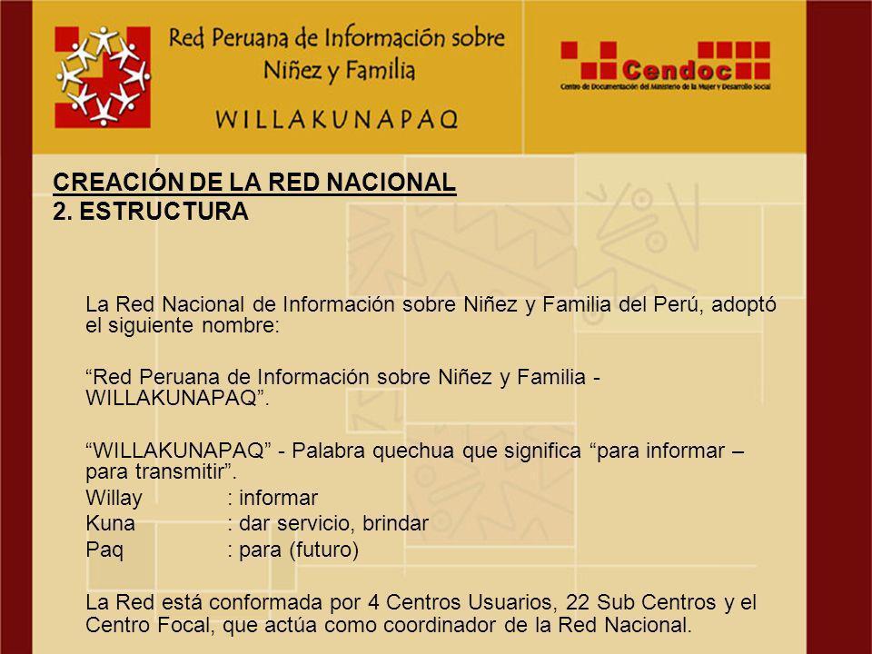 Material para la Promoción y Difusión de la Red Peruana de Información Sobre Niñez y familia
