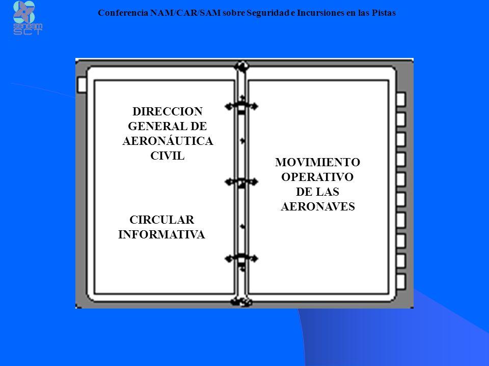CIRCULAR INFORMATIVA MOVIMIENTO OPERATIVO DE LAS AERONAVES DIRECCION GENERAL DE AERONÁUTICA CIVIL