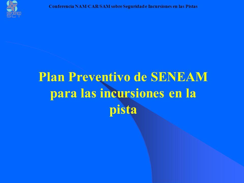 SENEAM Plan Preventivo para la Incursión de pistas Conferencia NAM/CAR/SAM sobre Seguridad e Incursiones en las Pistas