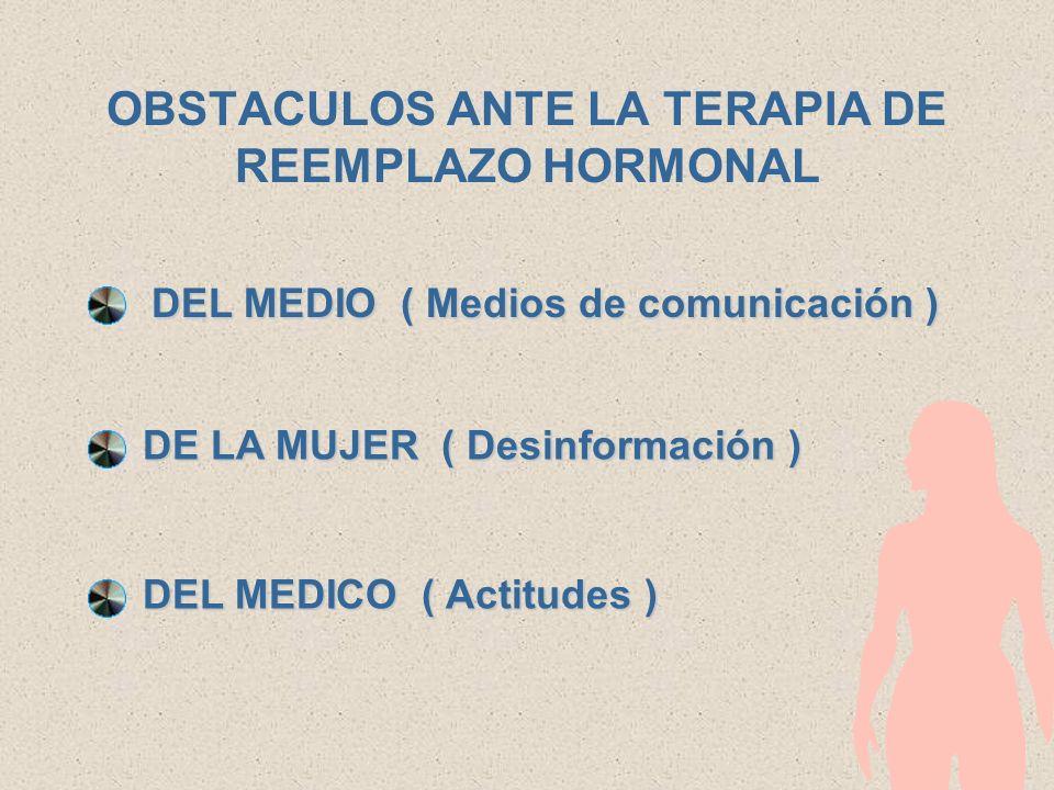Mitos y Realidades de las Terapias de Reemplazo Hormonal