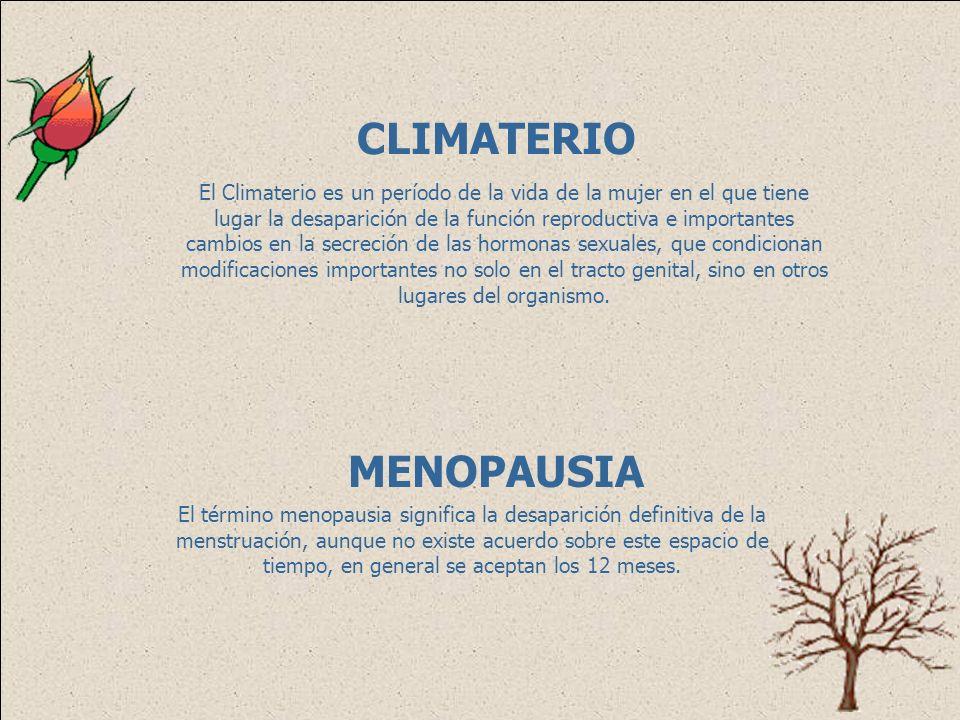 CLIMATERIO Y MENOPAUSIA Dra. Laura C. Arrieta M.
