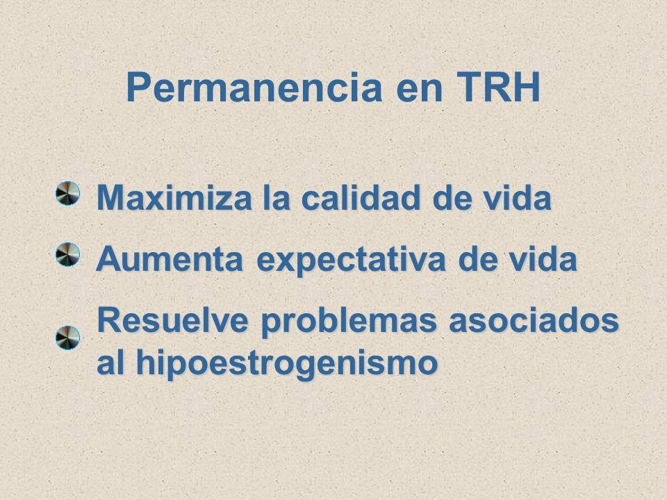 Porque al individualizar la TRH, se favorece la permanencia en el tratamiento