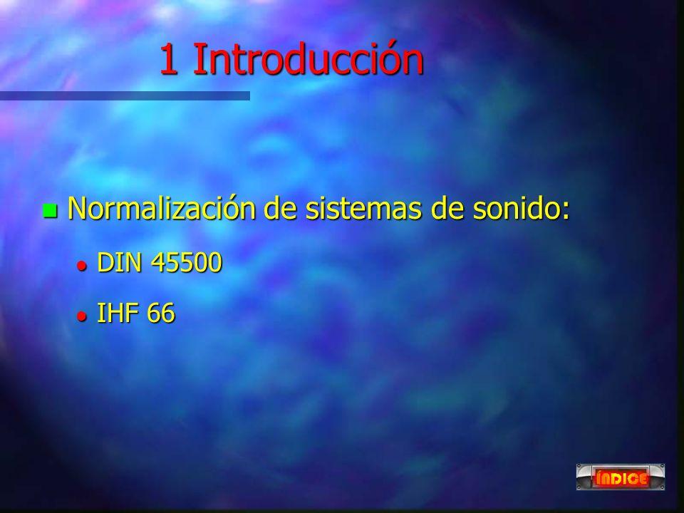 PROCESADORES DE SONIDO n 1 Introducción 1 Introducción 1 Introducción n 2 Ecualizadores 2 Ecualizadores 2 Ecualizadores n 3 Amplificadores 3 Amplifica