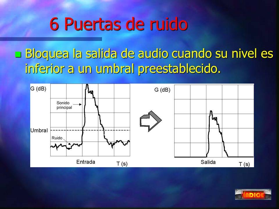 5 Generadores de efectos n Utilizan procesadores digitales de sonido (DSP), para modificar los parámetros de la señal. n Los efectos más comunes son r