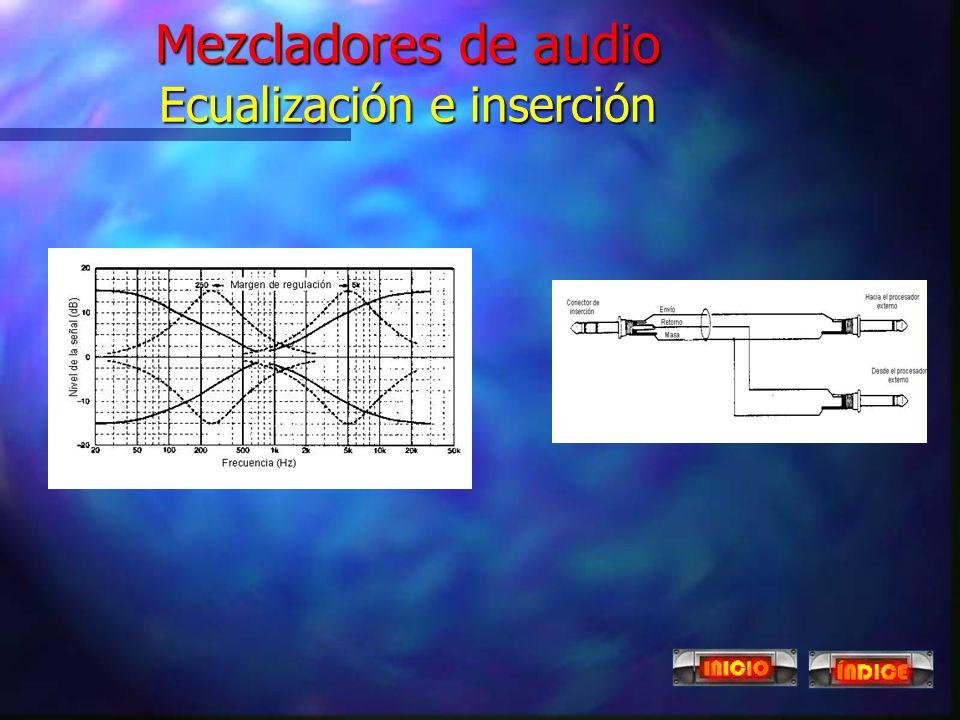 Mezcladores de audio Proceso individual