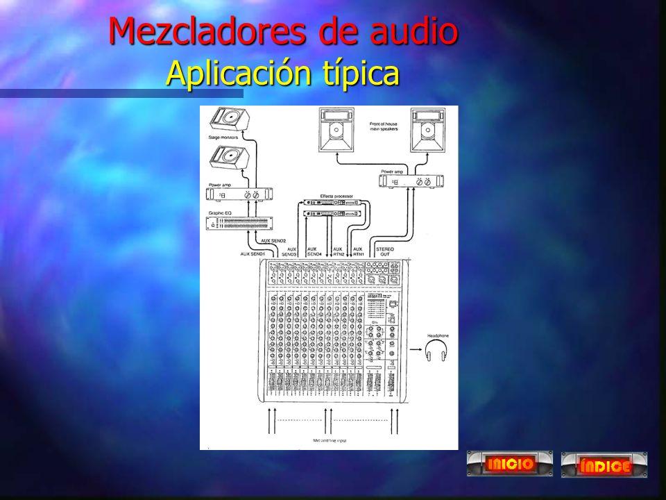 Mezcladores de audio digitales n Unidad de proceso digital en armario de equipos. n La consola de control transfiere las órdenes a la unidad de proces