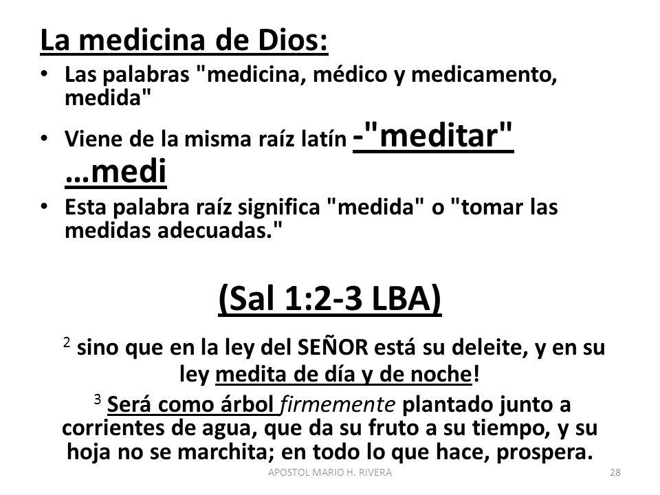 La medicina de Dios: Las palabras