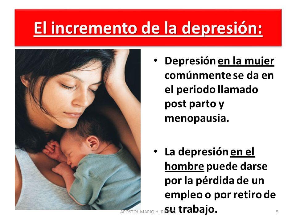 El incremento de la depresión: Se calcula que 14 millones de personas son diagnosticas con depresión al año solo en estados unidos.