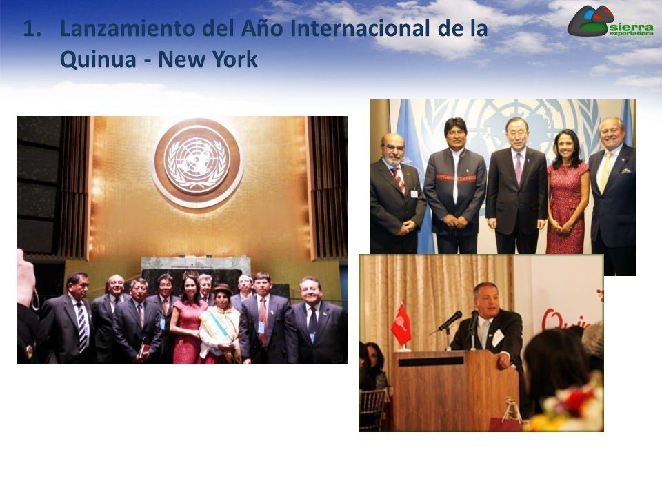 1.Lanzamiento del Año Internacional de la Quinua - New York