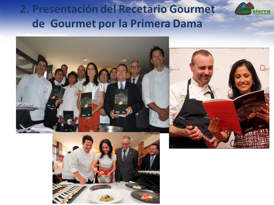 2. Presentación del Recetario Gourmet de Gourmet por la Primera Dama