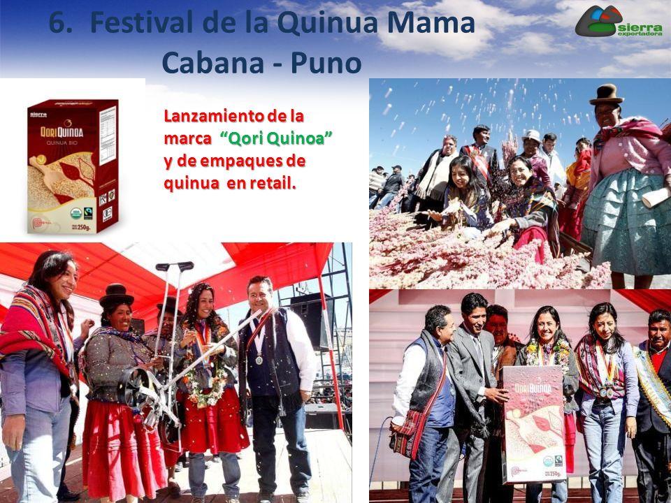 Lanzamiento de la marca Qori Quinoa y de empaques de quinua en retail. 6. Festival de la Quinua Mama Cabana - Puno