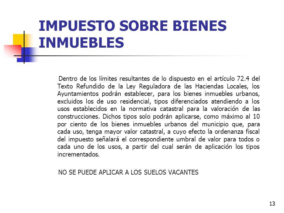 12 IMPUESTO SOBRE BIENES INMUEBLES TIPOS DE USOS (RD 1020/1993 POR EL QUE SE APRUEBAN LAS NORMAS TECNICAS DE VALORACION ) RESIDENCIAL INDUSTRIAL OFICI