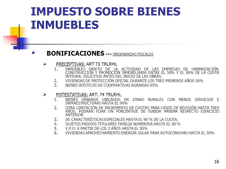 15 IMPUESTO SOBRE BIENES INMUEBLES TIPO DE USOS EN EL IBI MUNICIPIOUSOSBASELIQCONTRIBUYENTETIPOCUOTA AL 0,60%CUOTA al 1,10%DIFERENCIA X.Almacén7.003,8