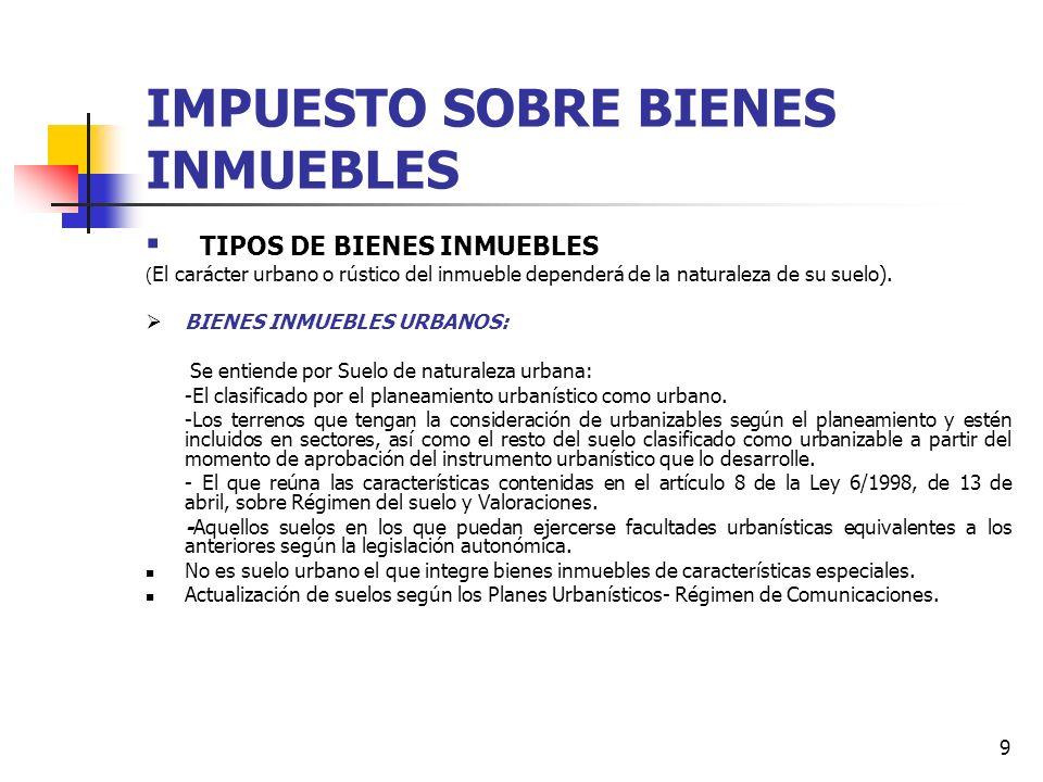 8 IMPUESTO SOBRE BIENES INMUEBLES ( IMP. PATRIMONIAL SOBRE EL VALOR DE LOS BIENES INMUEBLES ) LEY 51/2002 DE REFORMA DE LA LEY DE HACIENDAS LOCALES: C