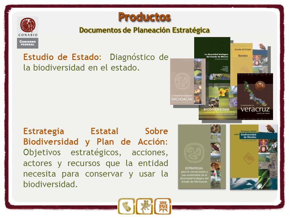 Estudio de Estado: Diagnóstico de la biodiversidad en el estado.