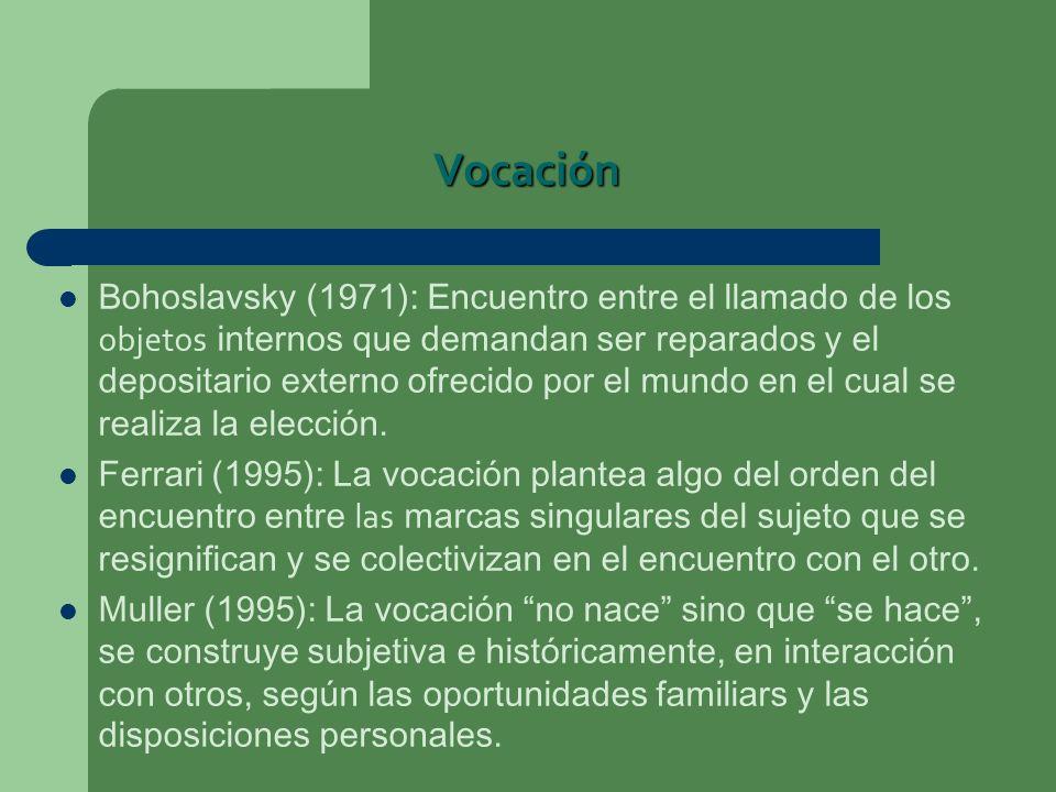Vocación Bohoslavsky (1971): Encuentro entre el llamado de los objetos internos que demandan ser reparados y el depositario externo ofrecido por el mu