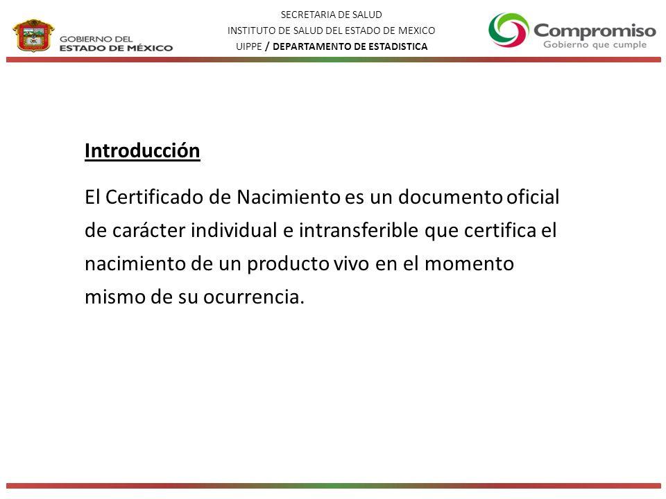 Introducción El Certificado de Nacimiento es un documento oficial de carácter individual e intransferible que certifica el nacimiento de un producto vivo en el momento mismo de su ocurrencia.