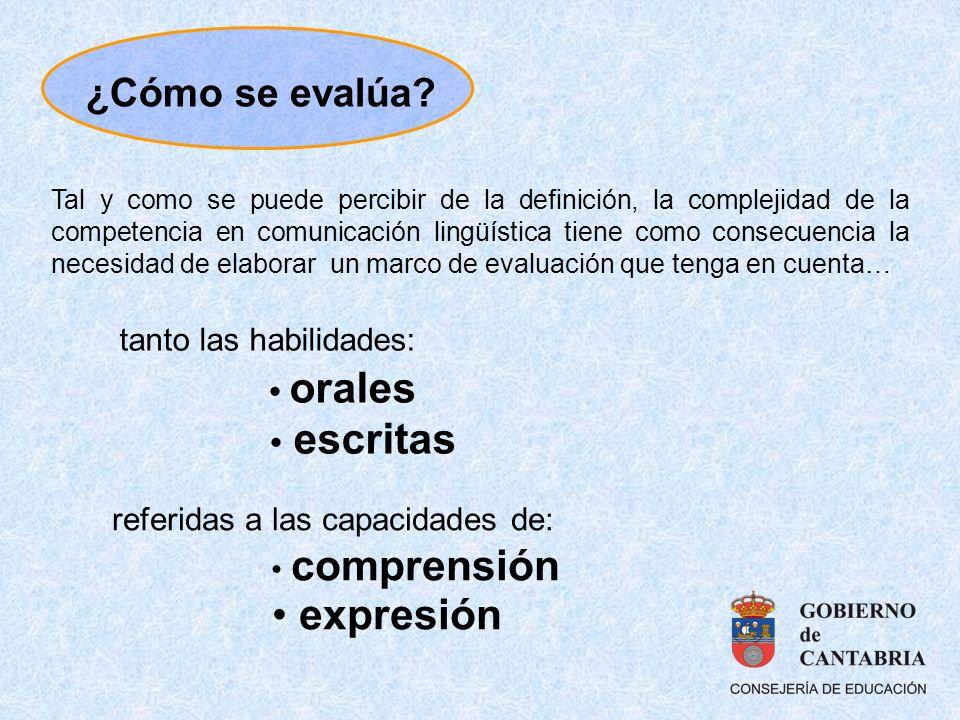 tanto las habilidades: orales escritas referidas a las capacidades de: comprensión expresión Tal y como se puede percibir de la definición, la complej