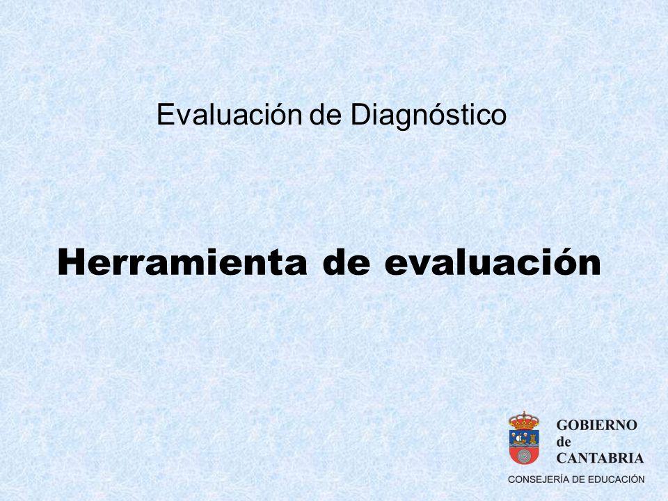 Herramienta de evaluación Evaluación de Diagnóstico