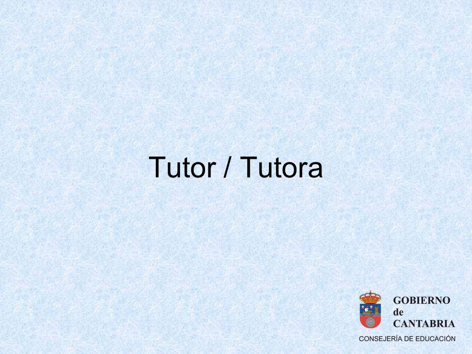 Tutor / Tutora