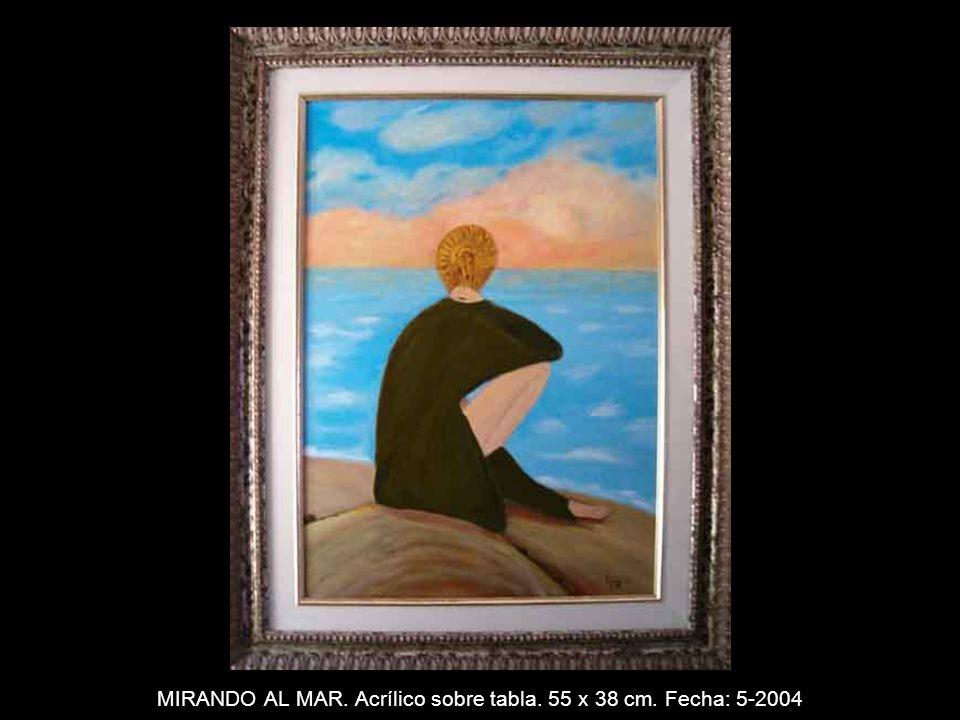 PUEBLO. Acrílico sobre tabla. 22 x 27 cm. Fecha: 5-2004