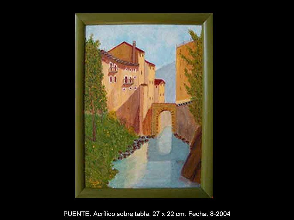 MIRANDO AL MAR. Acrílico sobre tabla. 55 x 38 cm. Fecha: 5-2004