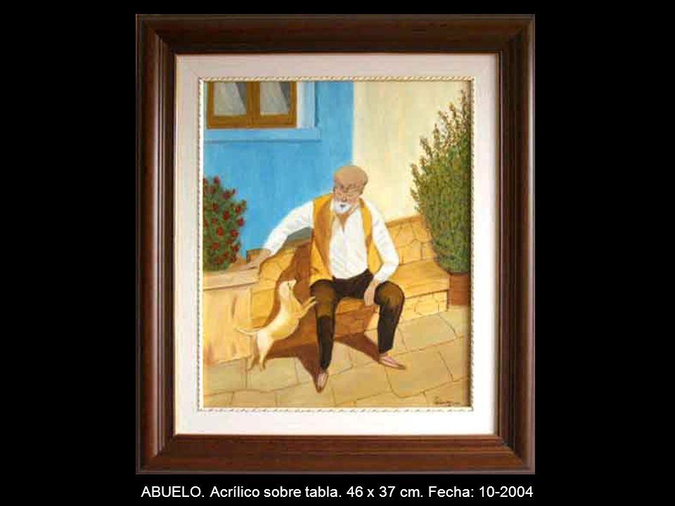 PUENTE. Acrílico sobre tabla. 27 x 22 cm. Fecha: 8-2004