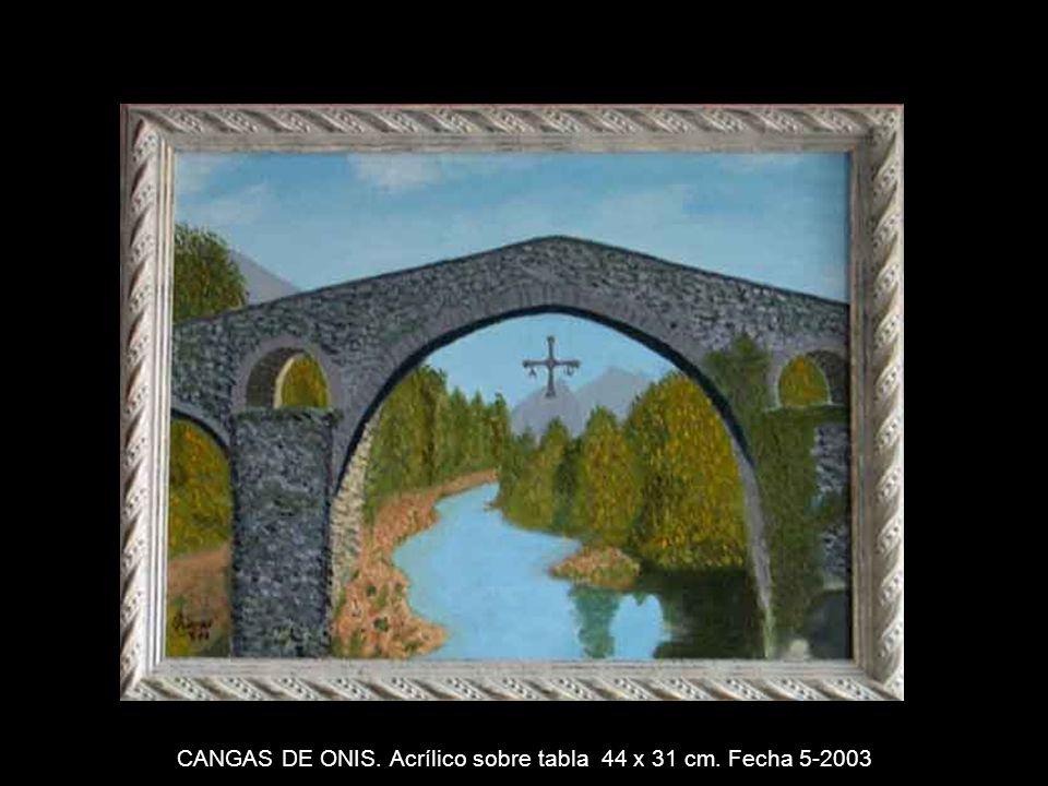 BALCON. Acrílico sobre tabla 31 x 44 cm. Fecha 4-2003