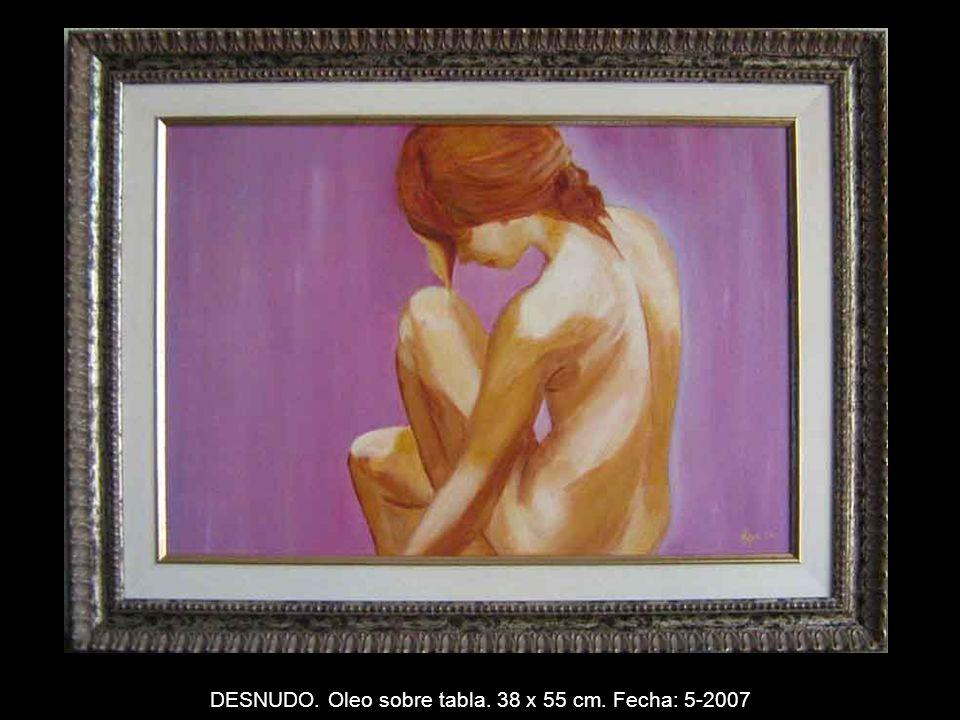 PUEBLO BLANCO. Oleo sobre lienzo. 53 x 72 cm. Fecha: 3-2007