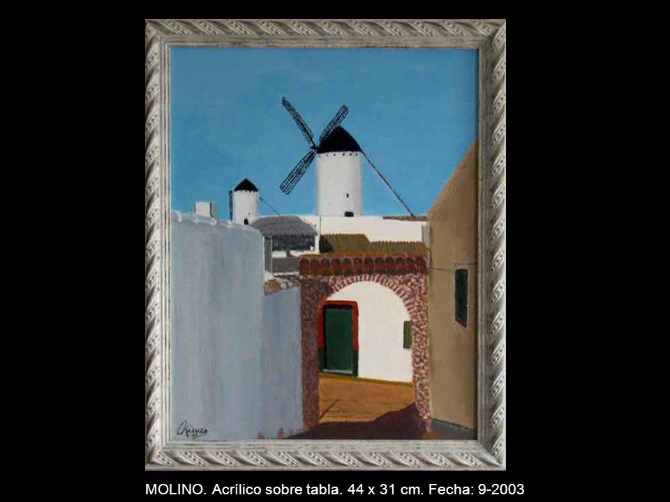 CANGAS DE ONIS. Acrílico sobre tabla 44 x 31 cm. Fecha 5-2003