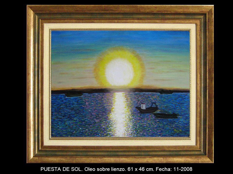 FLOR DE LOTO. Oleo sobre tabla. 22 x 16 cm. Fecha: 6-2008