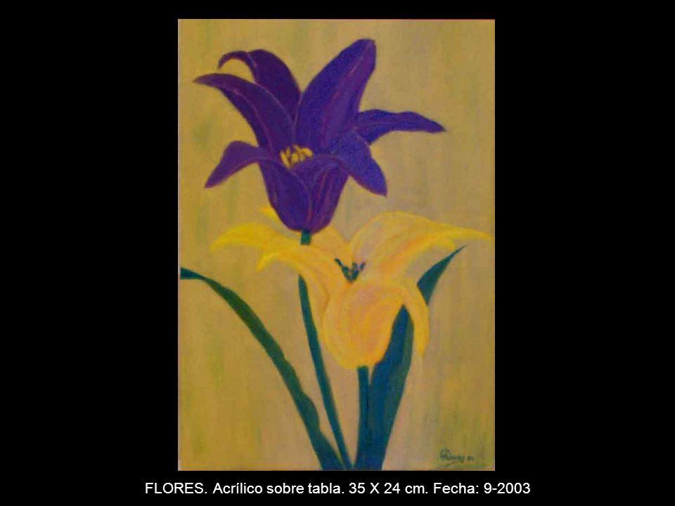 MOLINO. Acrílico sobre tabla. 44 x 31 cm. Fecha: 9-2003