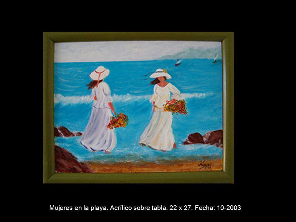FLORES. Acrílico sobre tabla. 35 X 24 cm. Fecha: 9-2003