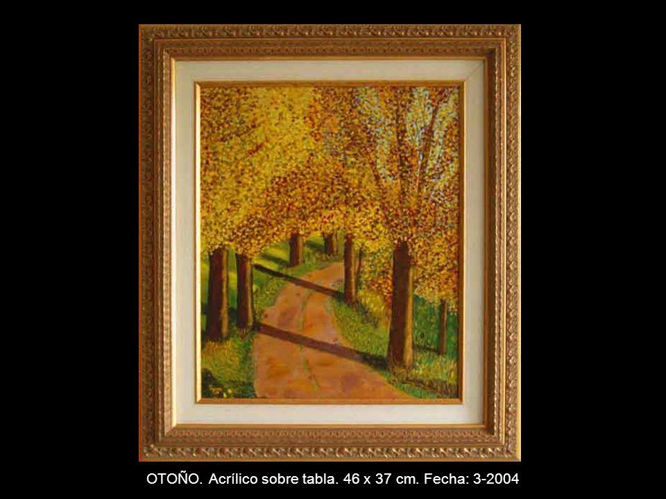 TUNECINO. Acrílico sobre tabla. 46 x 37 cm. Fecha: 2-2004