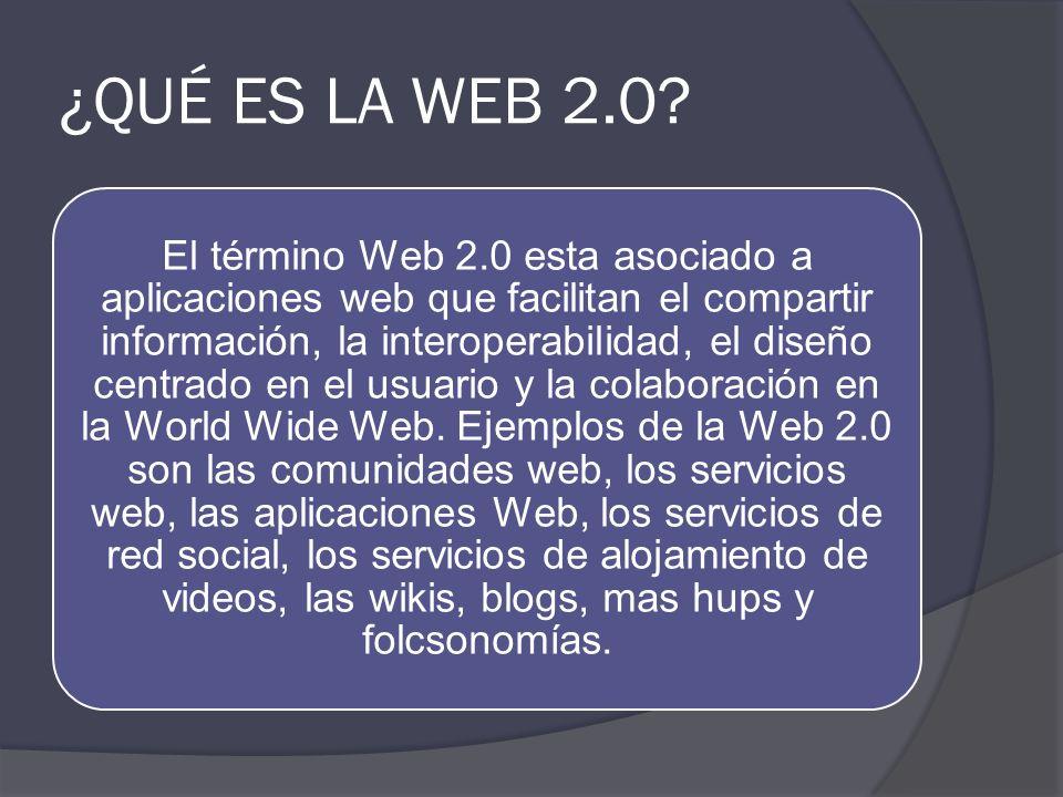 INVESTIGACIÓN SOBRE WEB 2.0 Y EDUCACION ¿Qué es la web 2.0 Web 2.0 y educación Tipos de herramientas web 2.0 Herramientas y ejemplos de aplicación ¿Dó
