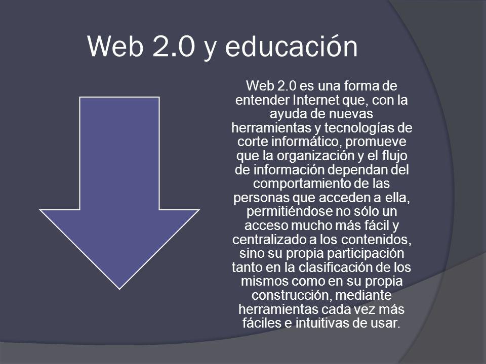 ¿QUÉ ES LA WEB 2.0? El término Web 2.0 esta asociado a aplicaciones web que facilitan el compartir información, la interoperabilidad, el diseño centra