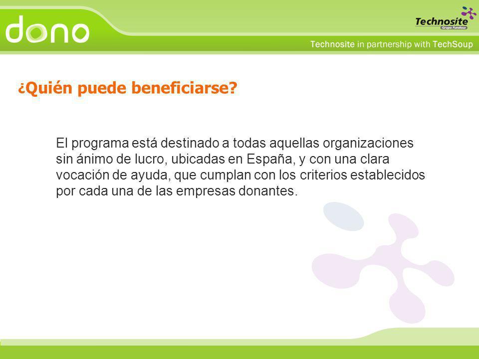 El programa está destinado a todas aquellas organizaciones sin ánimo de lucro, ubicadas en España, y con una clara vocación de ayuda, que cumplan con