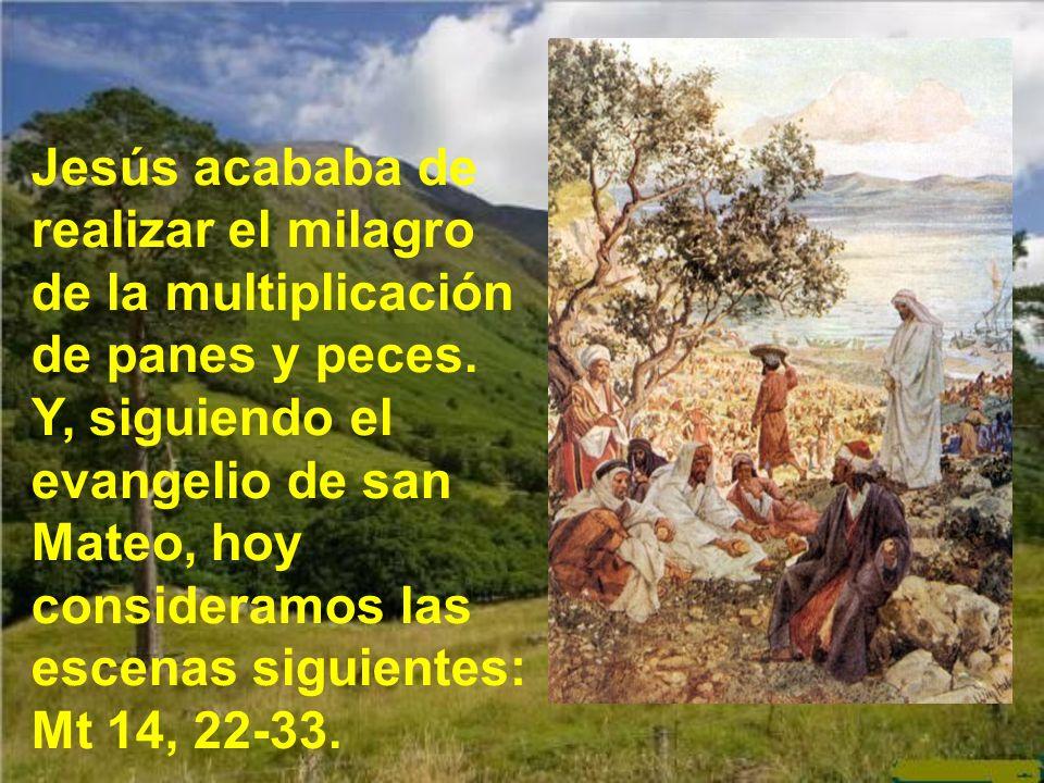 Jesús acababa de realizar el milagro de la multiplicación de panes y peces.