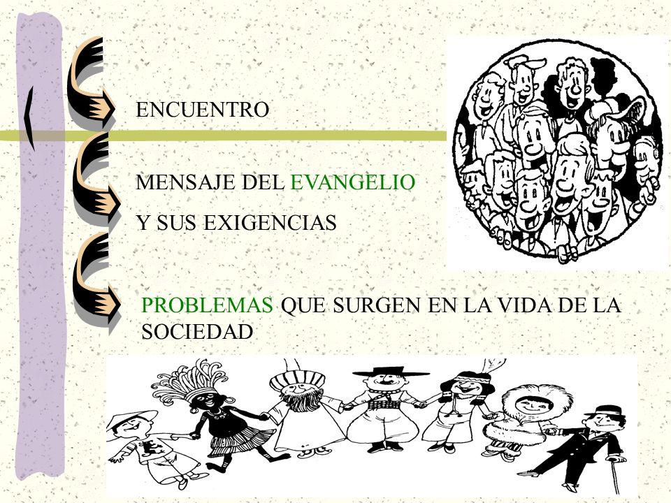 PROBLEMAS QUE SURGEN EN LA VIDA DE LA SOCIEDAD ENCUENTRO MENSAJE DEL EVANGELIO Y SUS EXIGENCIAS