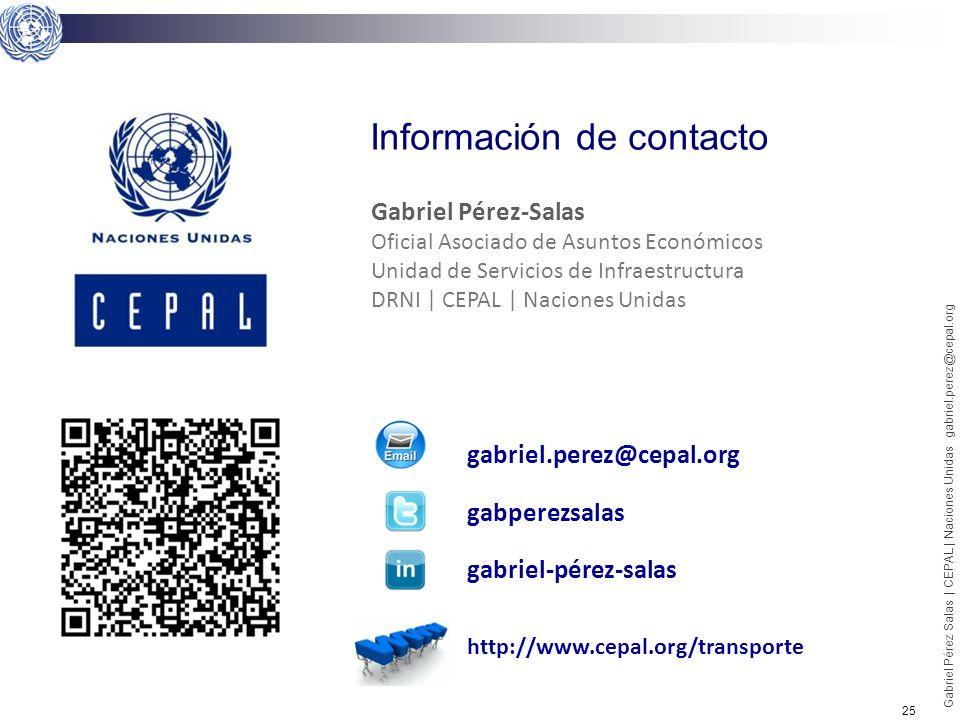 25 Gabriel Pérez Salas | CEPAL | Naciones Unidas gabriel.perez@cepal.org Información de contacto gabriel.perez@cepal.org gabperezsalas gabriel-pérez-s