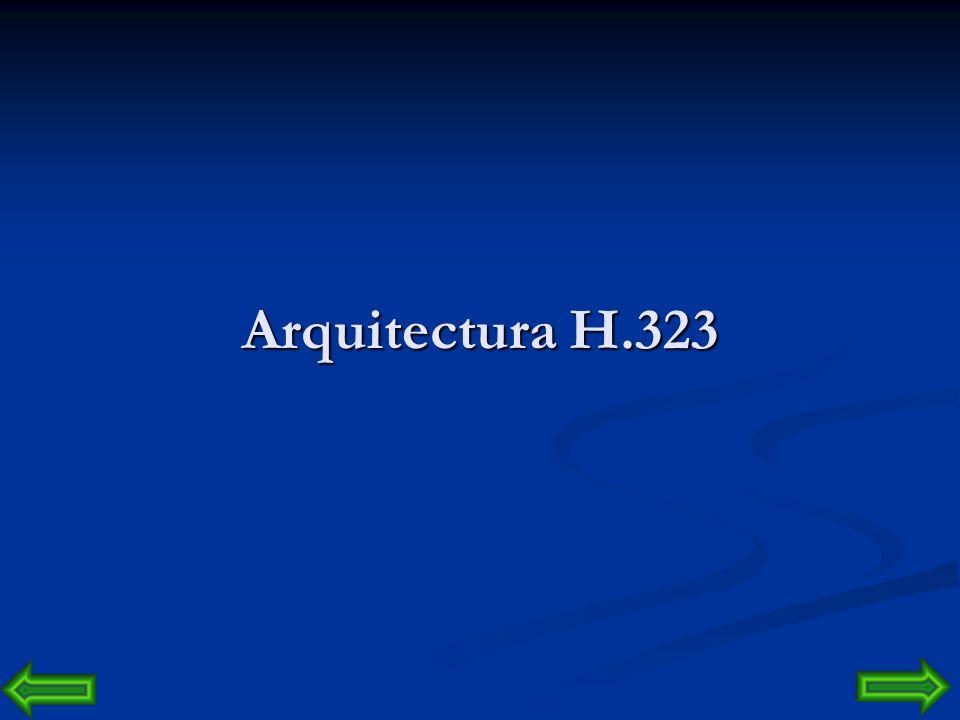 H.323 La comunicación bajo H.323 contempla las señales de audio y vídeo. La señal de audio se digitaliza y se comprime bajo uno de los algoritmos sopo