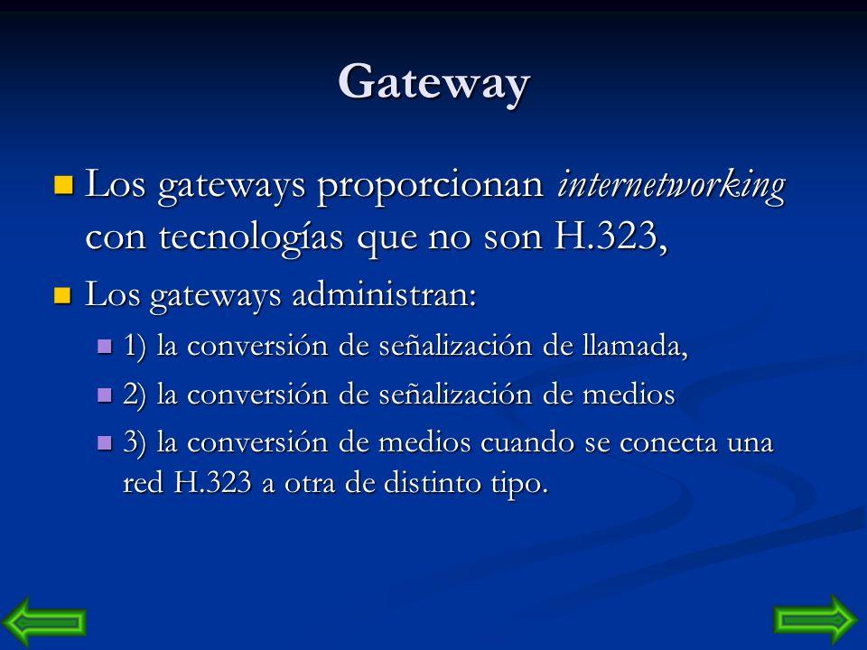 Terminal H.323 Piense en un terminal H.323 como un teléfono, con soporte opcional para vídeo interactivo y aplicaciones de datos compartidos. Los term
