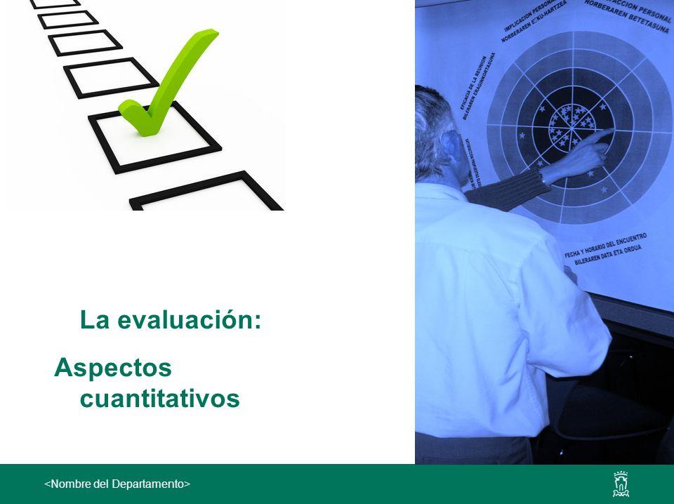 La evaluación: Aspectos cuantitativos