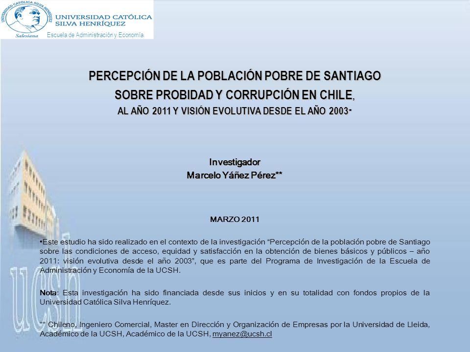 Un 81,9% de estas personas de Santiago está de acuerdo con que Los casos de corrupción son hoy más graves que hace un año, ratificando la percepción negativa de la evolución de la corrupción en Chile, proporción que crece 8,1 puntos porcentuales del año previo.