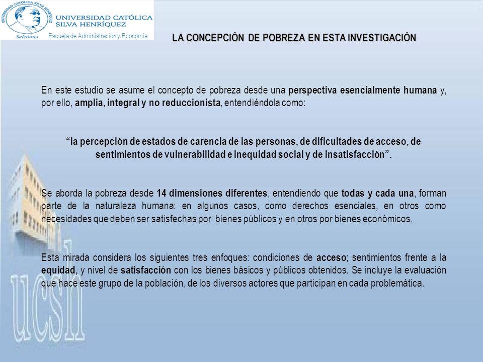 Por otro lado, un 85,9% de las personas pobres de Santiago estima que La gente no denuncia a los corruptos por miedo a represalias, cifra que se mantiene desde 2007.