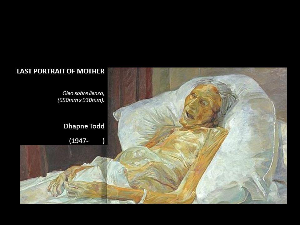 LAST PORTRAIT OF MOTHER Oleo sobre lienzo, (650mm x 930mm). Dhapne Todd (1947- )