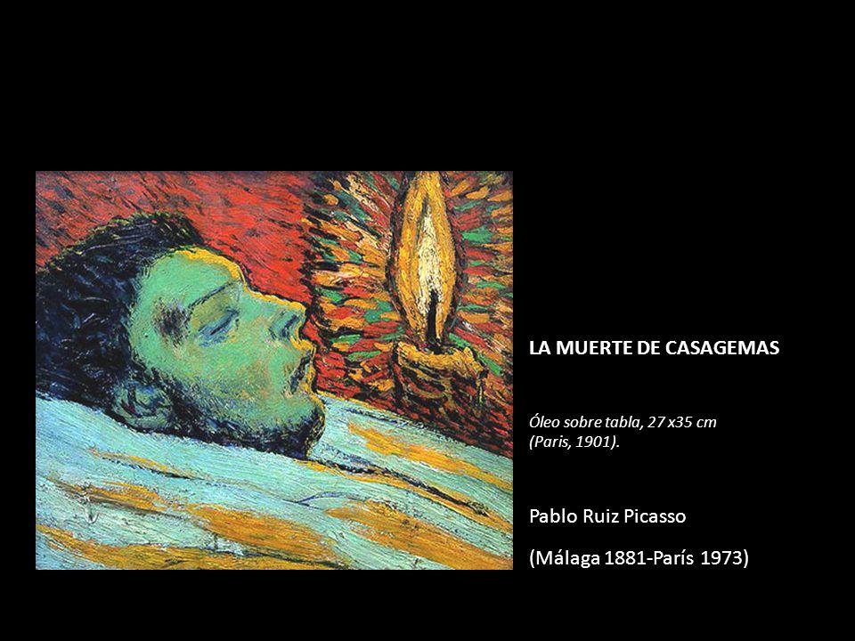 LA MUERTE DE CASAGEMAS Óleo sobre tabla, 27 x35 cm (Paris, 1901). Pablo Ruiz Picasso (Málaga 1881-París 1973)