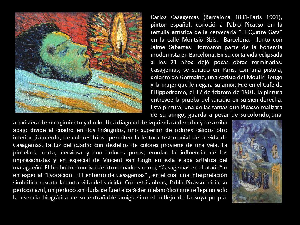 Carlos Casagemas (Barcelona 1881-París 1901), pintor español, conoció a Pablo Picasso en la tertulia artística de la cervecería El Quatre Gats en la calle Montsió 3bis, Barcelona.