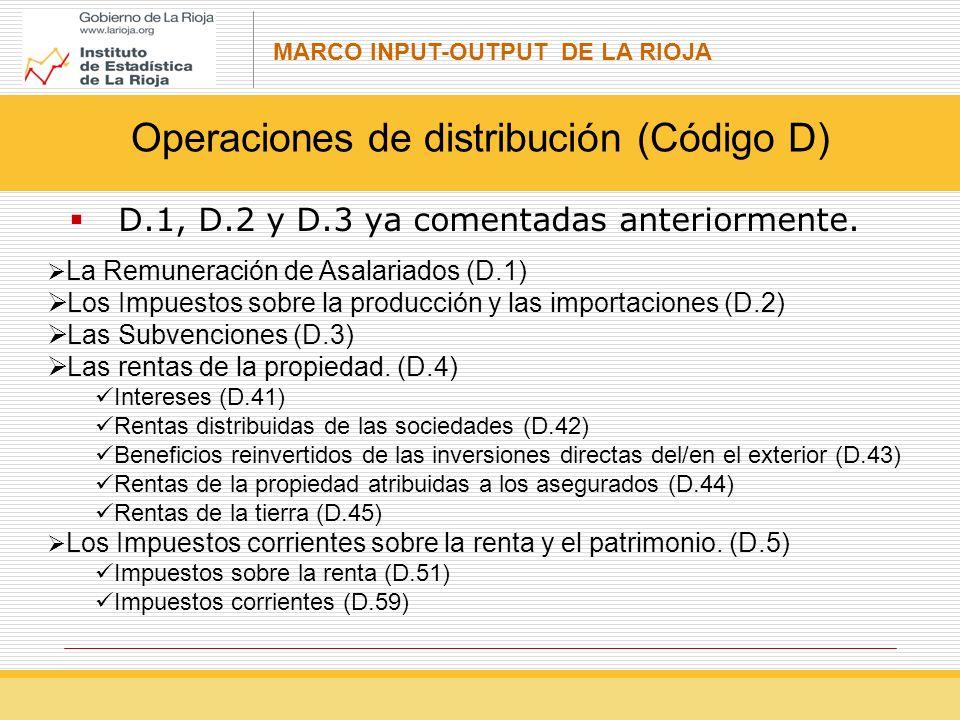 MARCO INPUT-OUTPUT DE LA RIOJA D.1, D.2 y D.3 ya comentadas anteriormente.